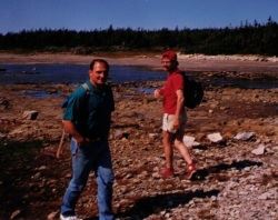 Dale and Lawrence Caines Exploring in Bird Cove